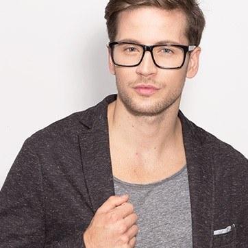 Black Sydney -  Fashion Acetate Eyeglasses - model image