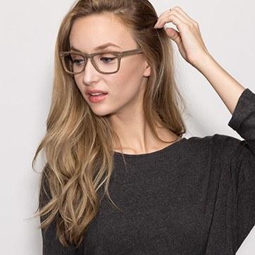 Brown Indian Creek -  Classic Eyeglasses - model image