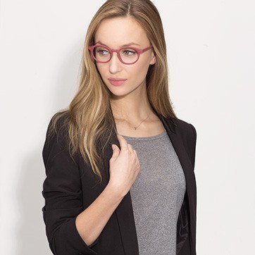 Pink Sophie -  Acetate Eyeglasses - model image