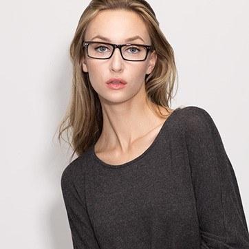 Black Vancouver -  Acetate Eyeglasses - model image