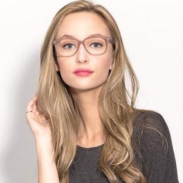 Matte Brown Escapee -  Fashion Acetate Eyeglasses - model image