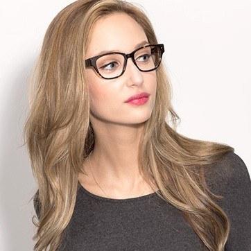 Tortoise Berlin -  Designer Acetate Eyeglasses - model image