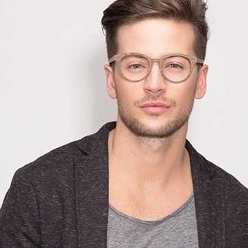 Brown/Striped Stanford -  Fashion Acetate Eyeglasses - model image