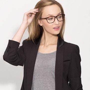 Tortoise Delight -  Acetate Eyeglasses - model image