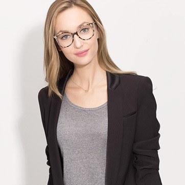 Ivory Tortoise Bardot -  Acetate Eyeglasses - model image
