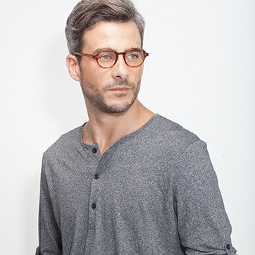 Tortoise Homer -  Acetate Eyeglasses - model image