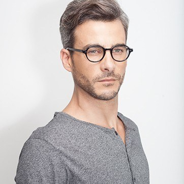 Black Homer -  Acetate Eyeglasses - model image