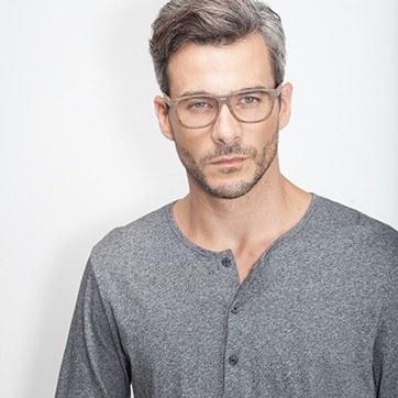 Matte Brown Leon -  Eyeglasses - model image