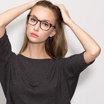 Tortoise Infinity -  Geek Acetate Eyeglasses - model image