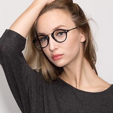 Black Shibuya -  Fashion Acetate Eyeglasses - model image