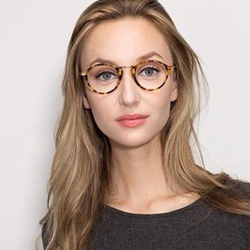 Tortoise Shibuya -  Fashion Acetate Eyeglasses - model image
