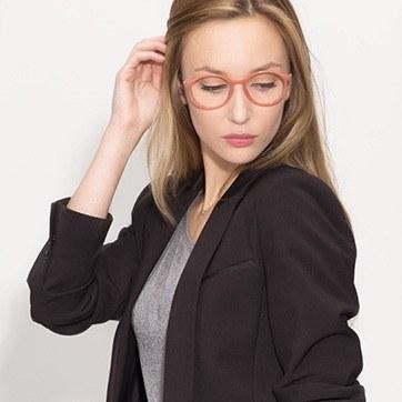 Pink  Doc -  Plastic Eyeglasses - model image
