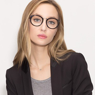 Black La Femme -  Designer Acetate Eyeglasses - model image