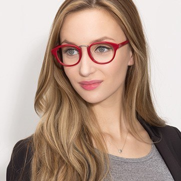 Red Micor -  Acetate Eyeglasses - model image