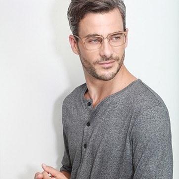Brown The Woods -  Designer Acetate Eyeglasses - model image