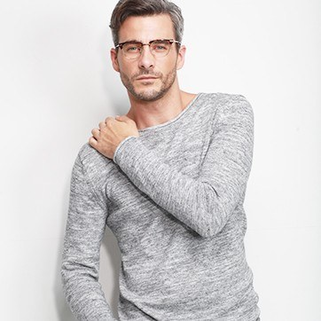 Tortoise Identity -  Geek Acetate Eyeglasses - model image