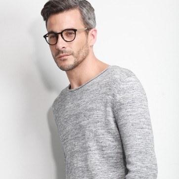 Black White Moon -  Fashion Acetate Eyeglasses - model image