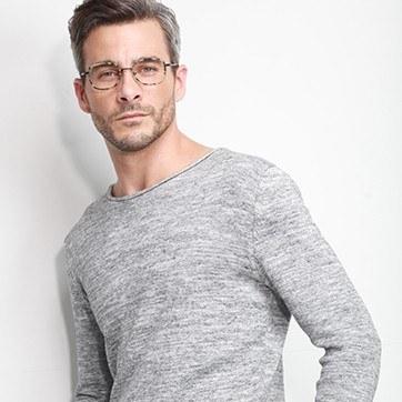 Matte Tortoise Trapeze -  Designer Acetate Eyeglasses - model image
