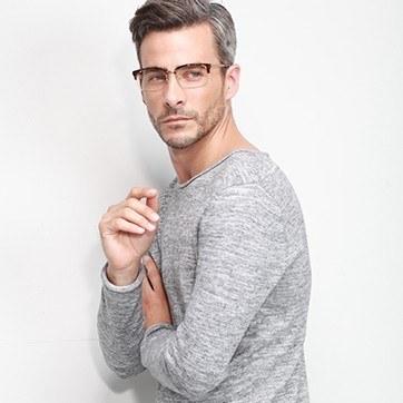 Tortoise Wizard -  Designer Acetate Eyeglasses - model image