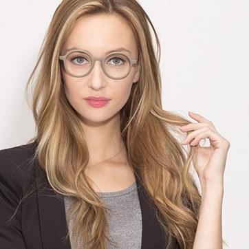 Matte Green Potter -  Classic Metal Eyeglasses - model image