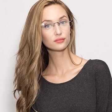 Brown Vernon -  Lightweight Acetate Eyeglasses - model image