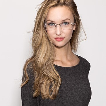 Gunmetal Vernon -  Lightweight Acetate Eyeglasses - model image