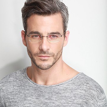Gunmetal Dimension -  Lightweight Titanium Eyeglasses - model image