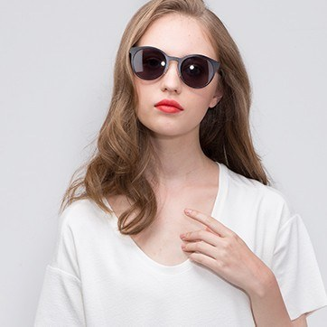 Matte Black Copenhagen -  Metal Sunglasses - model image