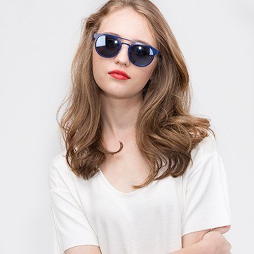 Blue Playground -  Metal Sunglasses - model image