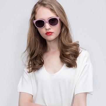 Purple Matilda -  Acetate Sunglasses - model image
