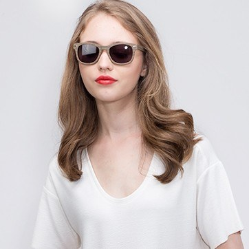 Chestnut Hanoi -  Acetate Sunglasses - model image