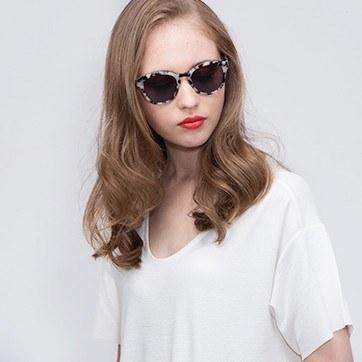 Ivory Tortoise  Augustine -  Acetate Sunglasses - model image
