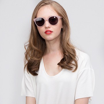 Pink  Angie -  Acetate Sunglasses - model image