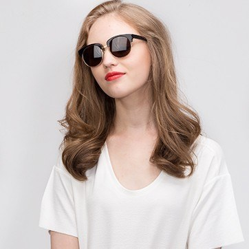 Black  Simone -  Acetate Sunglasses - model image
