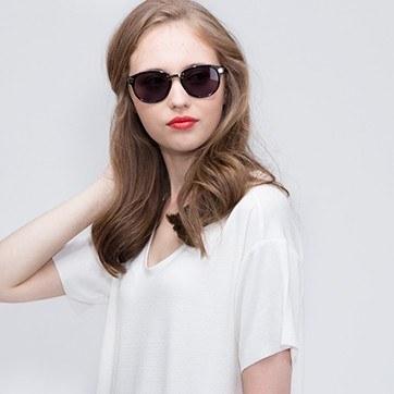 Black Wynwood -  Acetate Sunglasses - model image