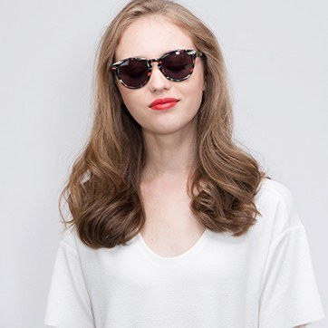 Floral Augustine -  Acetate Sunglasses - model image