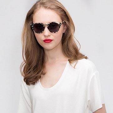 Ivory Tortoise Havana -  Acetate Sunglasses - model image