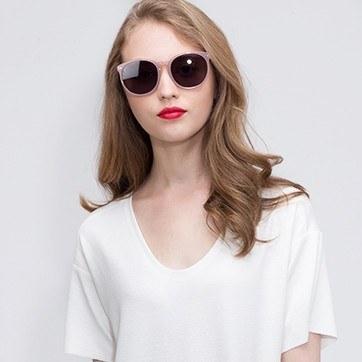 Pink Vapor -  Acetate Sunglasses - model image