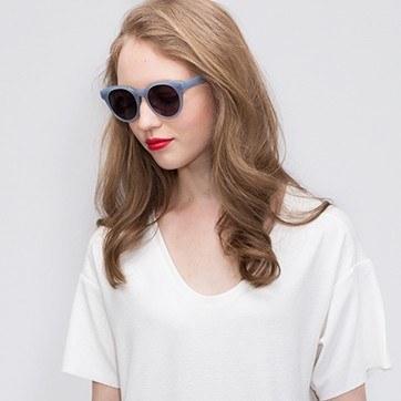 Blue Minuit -  Acetate Sunglasses - model image