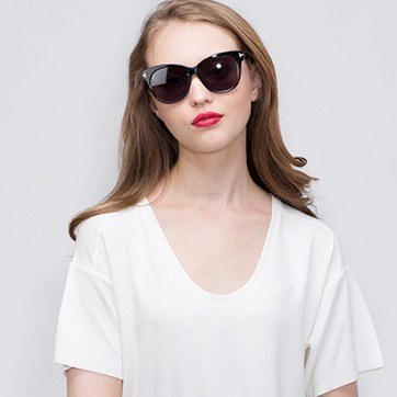 Black Copa -  Acetate Sunglasses - model image