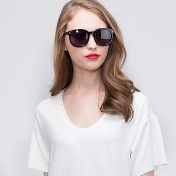Black Paige -  Acetate Sunglasses - model image