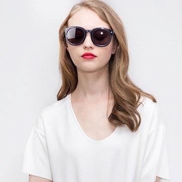 Blue Paige -  Acetate Sunglasses - model image