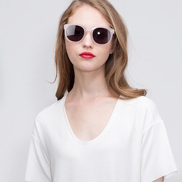 White Paige -  Acetate Sunglasses - model image