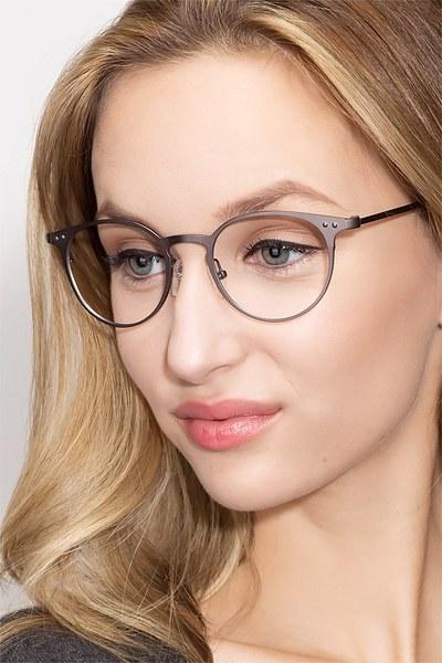Thin Line Gunmetal Metal Eyeglasses EyeBuyDirect